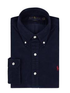Granatowa koszula POLO RALPH LAUREN z bawełny z kołnierzykiem button down
