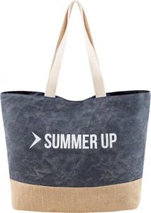 Niebieska torebka Outhorn z bawełny w wakacyjnym stylu