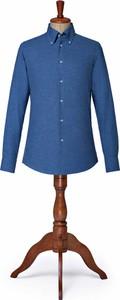 Niebieska koszula LANCERTO z długim rękawem z klasycznym kołnierzykiem