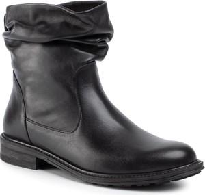 Czarne botki Nessi w stylu casual