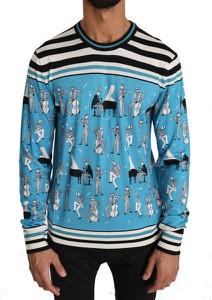 Niebieski sweter Dolce & Gabbana w młodzieżowym stylu