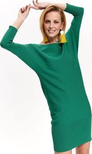 Zielona tunika Top Secret w stylu casual z dzianiny