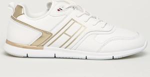 Buty sportowe Tommy Hilfiger ze skóry ekologicznej sznurowane