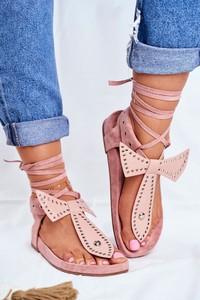 Różowe sandały Lu Boo
