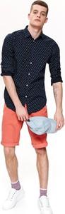 Granatowa koszula Top Secret w stylu casual