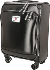 Czarna walizka Love Moschino