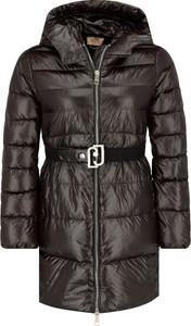Brązowa kurtka Liu-Jo długa w stylu casual