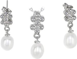 Monarti Srebrny komplet biżuterii z perłami
