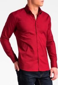 Czerwona koszula Ombre