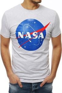 T-shirt Dstreet z bawełny z nadrukiem z krótkim rękawem