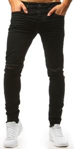 Czarne jeansy Dstreet z bawełny w street stylu