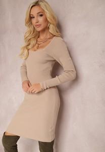 Sukienka Renee dopasowana mini z okrągłym dekoltem