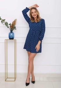 Niebieska sukienka Royalfashion.pl mini w stylu casual