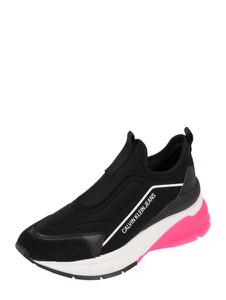 Czarne buty sportowe Calvin Klein z płaską podeszwą