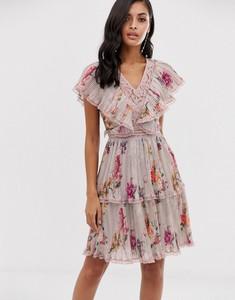 Sukienka Lace & Beads z krótkim rękawem