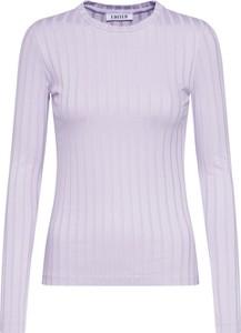 Fioletowa bluzka EDITED z okrągłym dekoltem z dżerseju