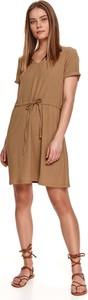 Sukienka Top Secret w stylu casual z krótkim rękawem z tkaniny