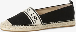 Czarne espadryle Ralph Lauren w stylu casual z tkaniny