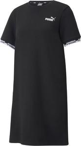 Sukienka Puma w sportowym stylu z okrągłym dekoltem z krótkim rękawem