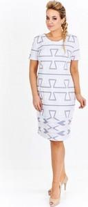 a59e5a61fa Sukienka Milano Moda z krótkim rękawem midi w stylu casual