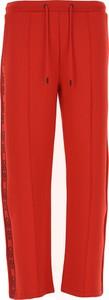 Czerwone spodnie Kenzo z bawełny