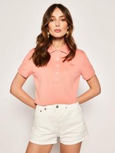 Bluzka Lacoste w stylu casual z krótkim rękawem