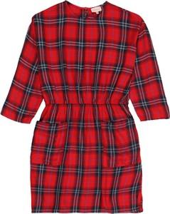 Czerwona sukienka dziewczęca Kids ONLY w krateczkę