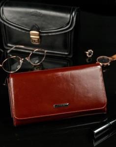 Brązowy portfel Lorenti ze skóry