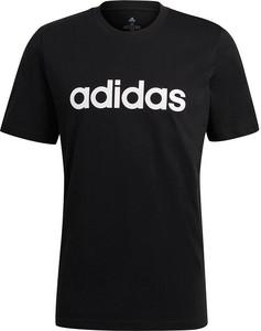 Czarny t-shirt Adidas w sportowym stylu z krótkim rękawem