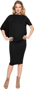 Czarna sukienka CAHA midi