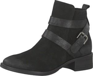 Czarne botki Tamaris w stylu casual