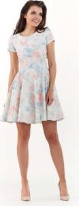 Sukienka Infinite You rozkloszowana mini z okrągłym dekoltem