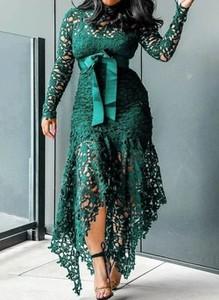 Zielona sukienka Cikelly z dekoltem w kształcie litery v