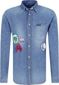 Niebieska koszula Calvin Klein z długim rękawem