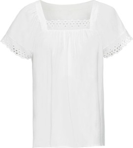 Bluzka bonprix BODYFLIRT z krótkim rękawem w stylu boho z dekoltem w karo