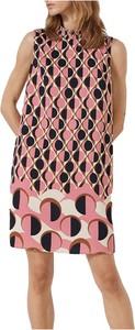 Różowa sukienka Marella bez rękawów mini w stylu casual