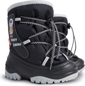 Czarne buty dziecięce zimowe Demar dla chłopców