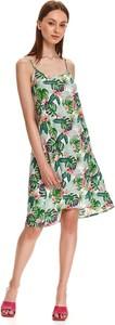 Sukienka Top Secret koszulowa z okrągłym dekoltem mini