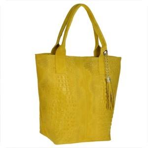 Żółta torebka Borse in Pelle w wakacyjnym stylu