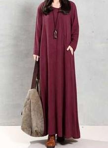 Czerwona sukienka Cikelly w stylu casual