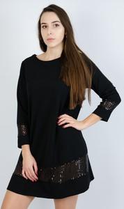Czarna sukienka Olika w stylu casual mini