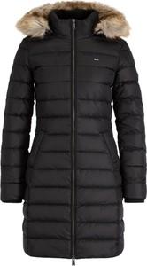 Czarny płaszcz Tommy Jeans