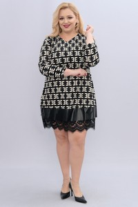 Sukienka KARKO z długim rękawem oversize z dekoltem w kształcie litery v