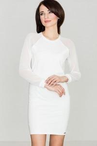 Sukienka LENITIF mini z okrągłym dekoltem z bawełny
