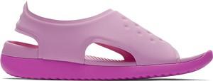 Buty dziecięce letnie Nike w paseczki na rzepy ze skóry