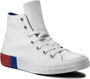 Trampki converse - ctas hi 159639c white/red/blue
