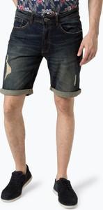 Granatowe spodenki Aygill`s z jeansu w stylu casual