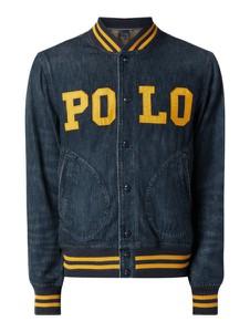 Granatowa kurtka POLO RALPH LAUREN w młodzieżowym stylu z jeansu