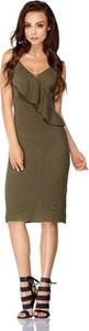 Sukienka Lemoniade z bawełny z dekoltem w kształcie litery v midi