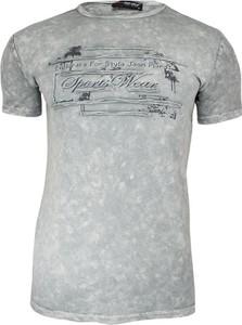 T-shirt Adriano Guinari z tkaniny z nadrukiem